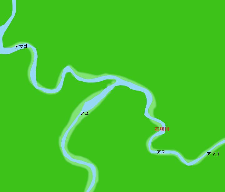 気田川石切川合流地点付近ポイント