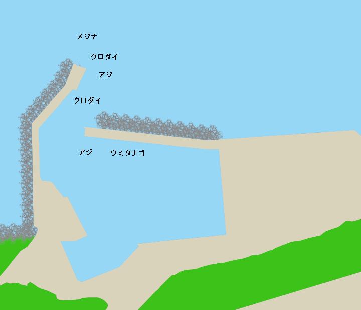 小正月港ポイント図