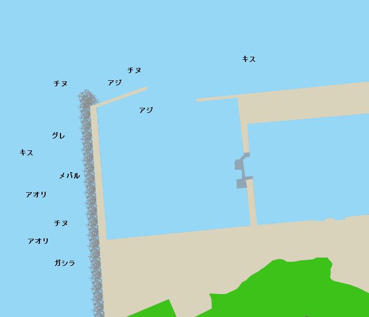 唐尾漁港ポイント図
