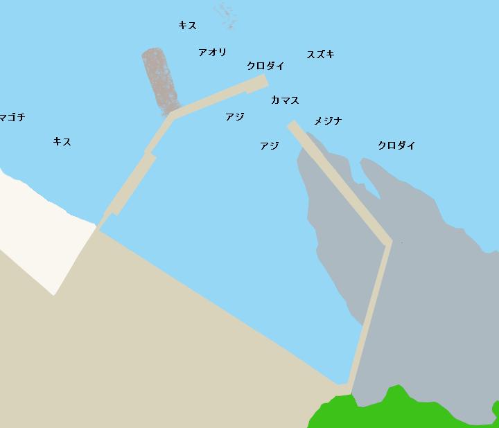 串浜港ポイント図