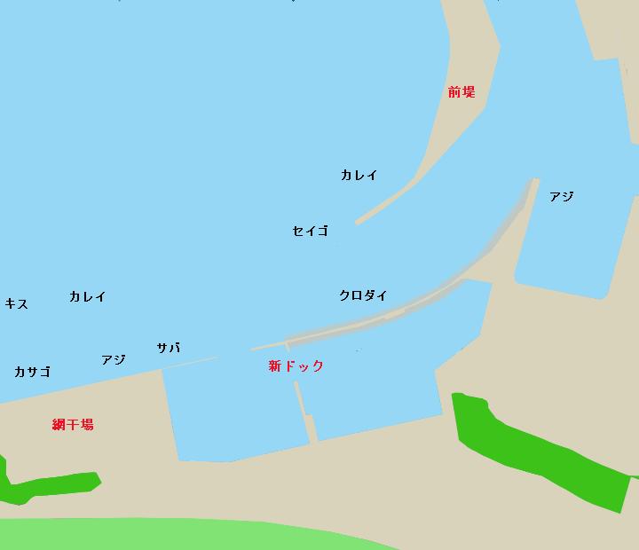 舞阪港ポイント図