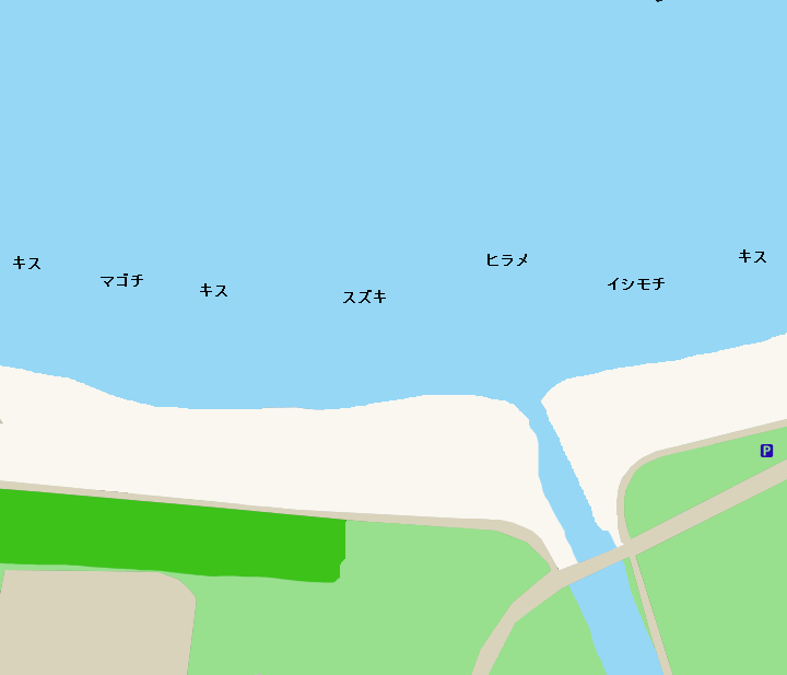 南千倉海岸ポイント図