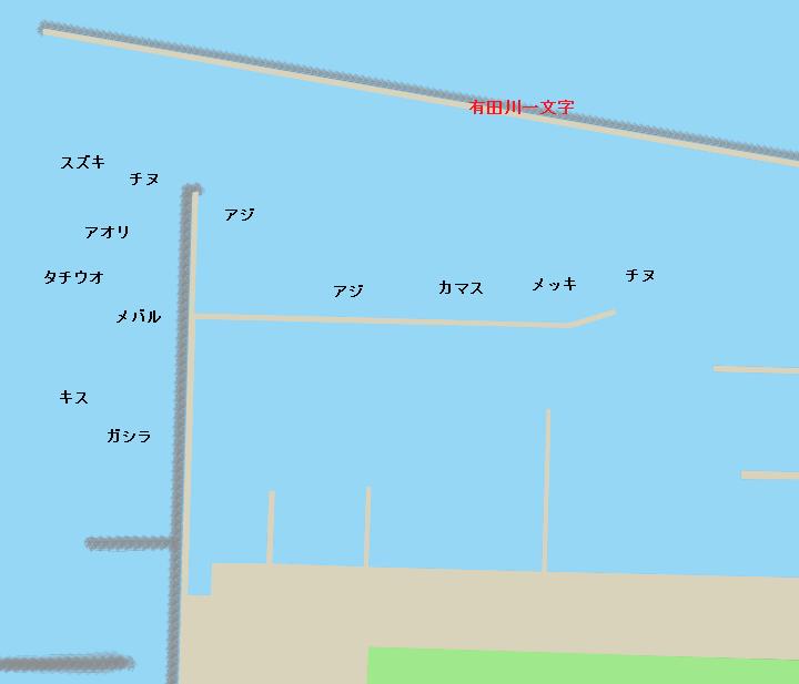 箕島漁港ポイント図