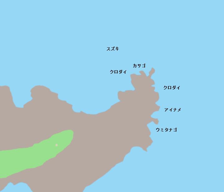 長崎鼻ポイント図