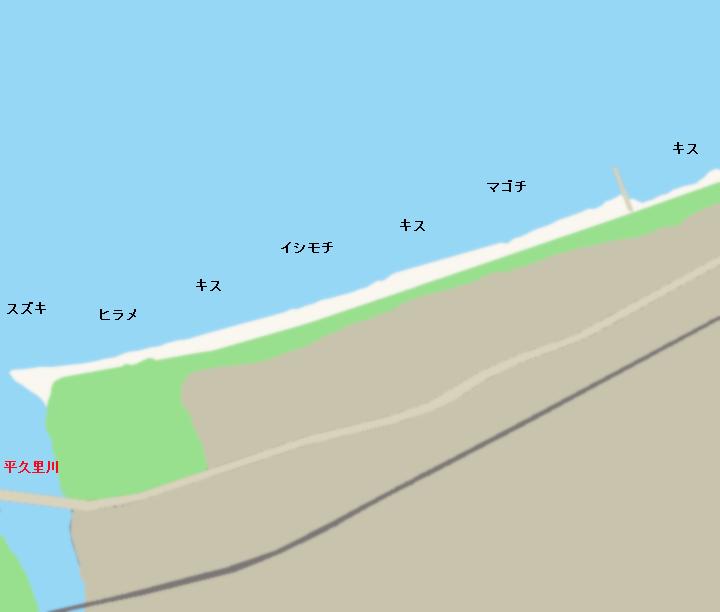 那古海岸ポイント図
