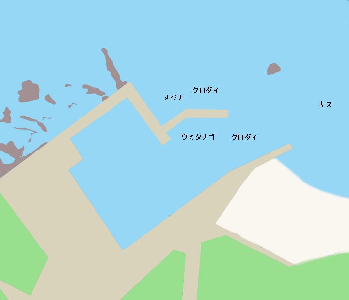 名倉港ポイント図