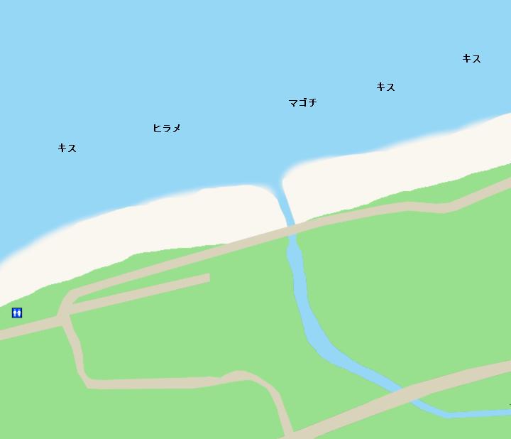 南無谷海岸ポイント図