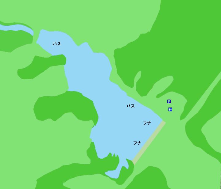七曲調整池ポイント図