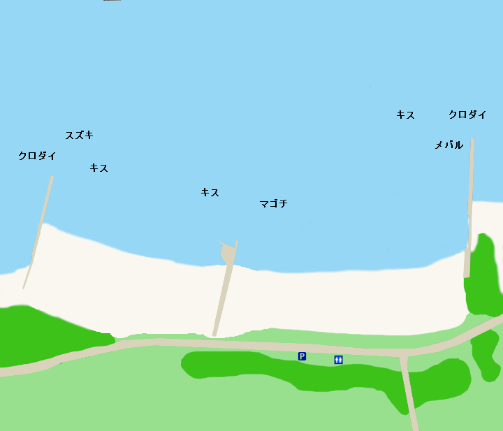 西浜堤防ポイント図