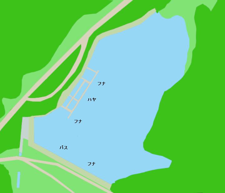 西大谷池ポイント図