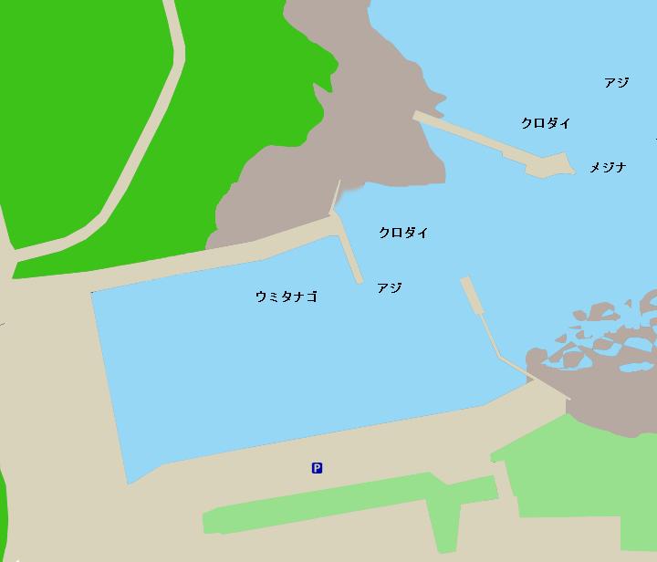 野島西港ポイント図