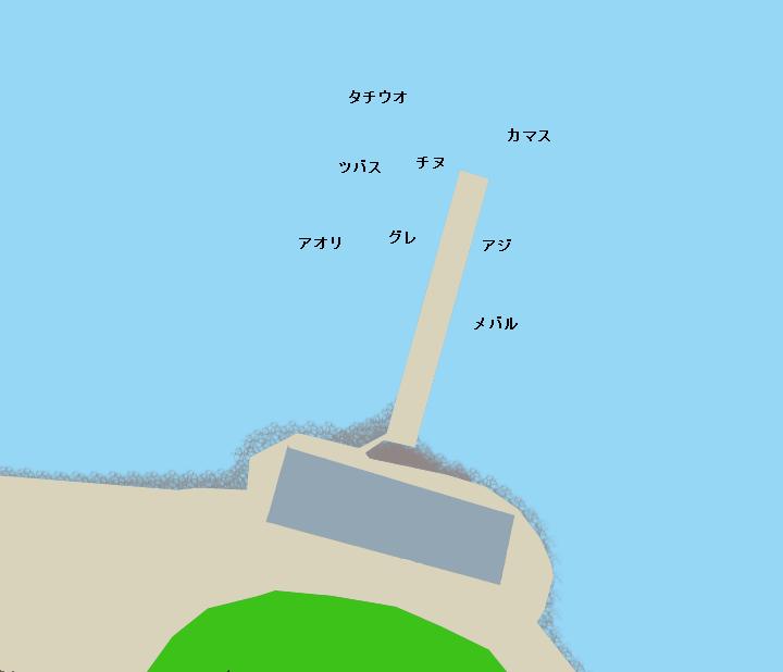 下津港沖山の波止