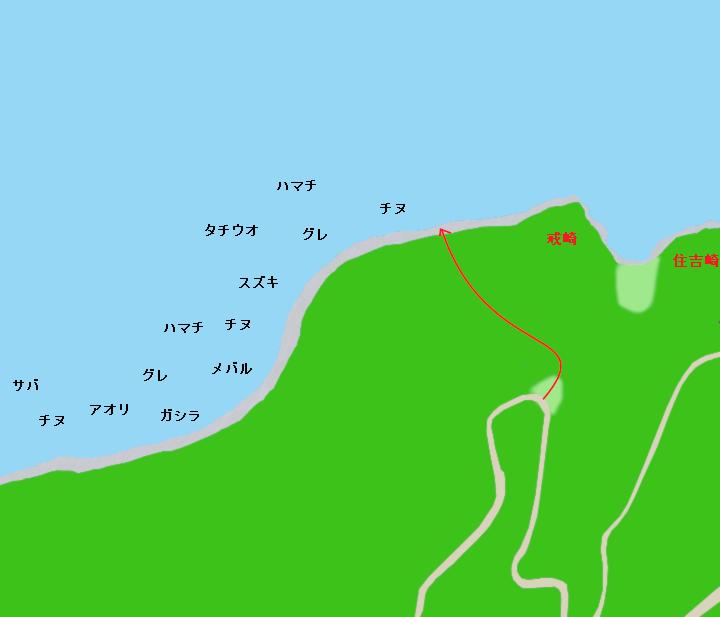 大川峠周辺ポイント図