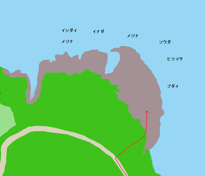 八幡野大灘ポイント図