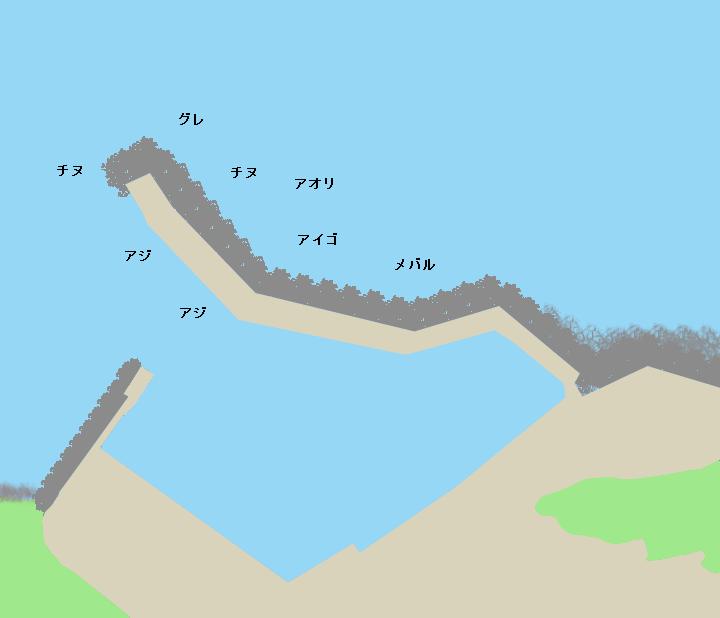 逢井漁港ポイント図