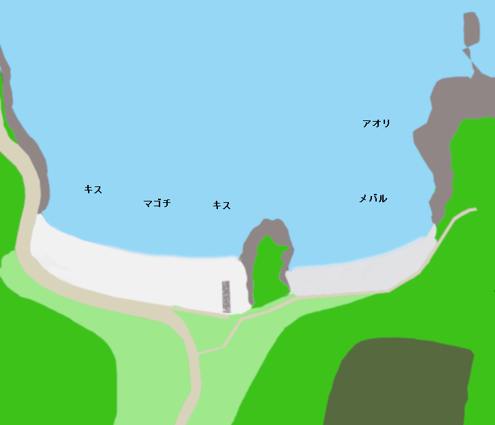 小浦海岸ポイント図