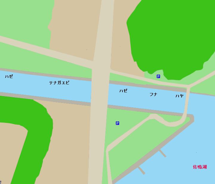 佐鳴湖新川放水路ポイント図