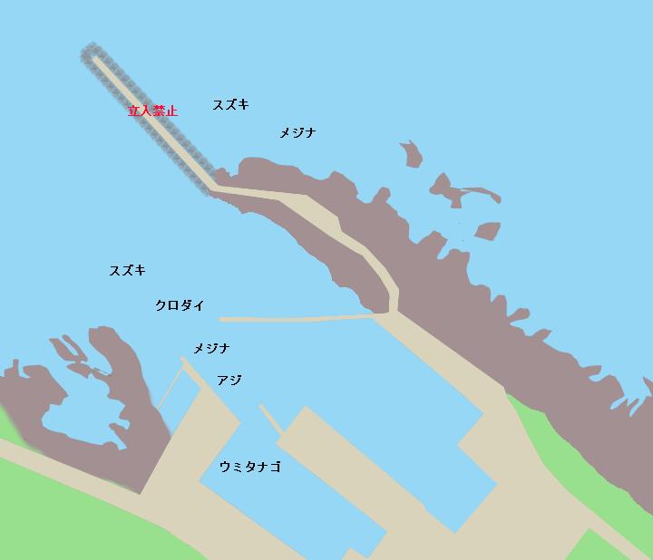 千田港ポイント図