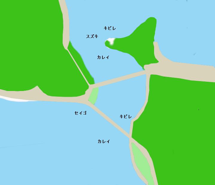 浜名湖瀬戸水道ポイント図