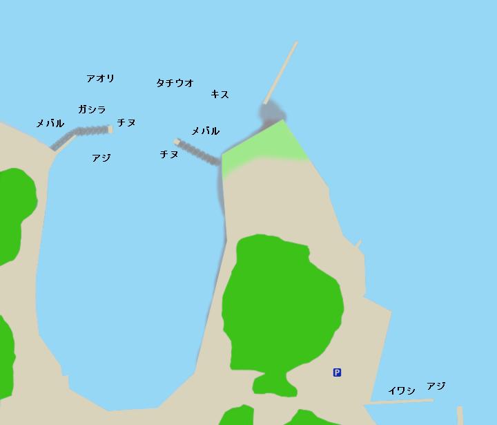下津港牛が首周辺ポイント図