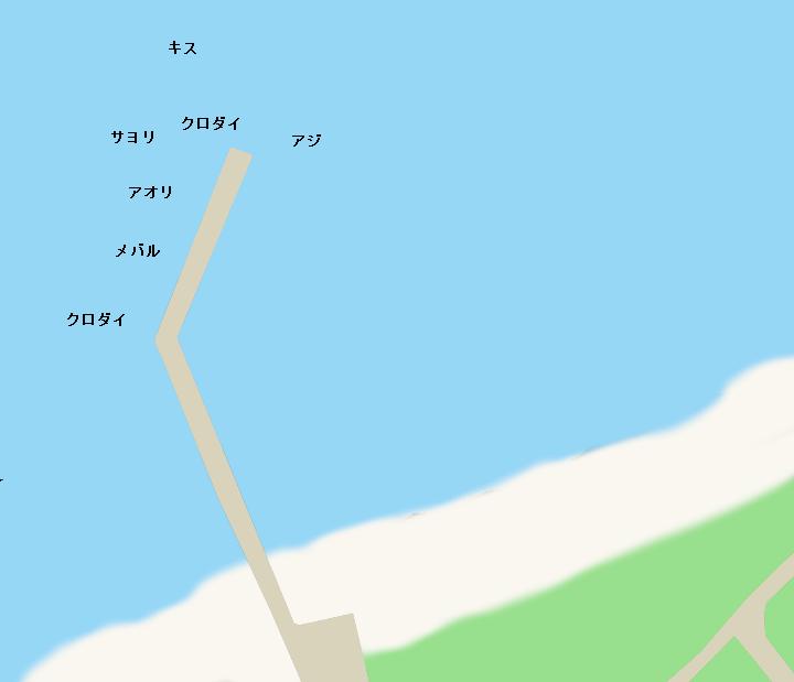 塩見堤防ポイント図
