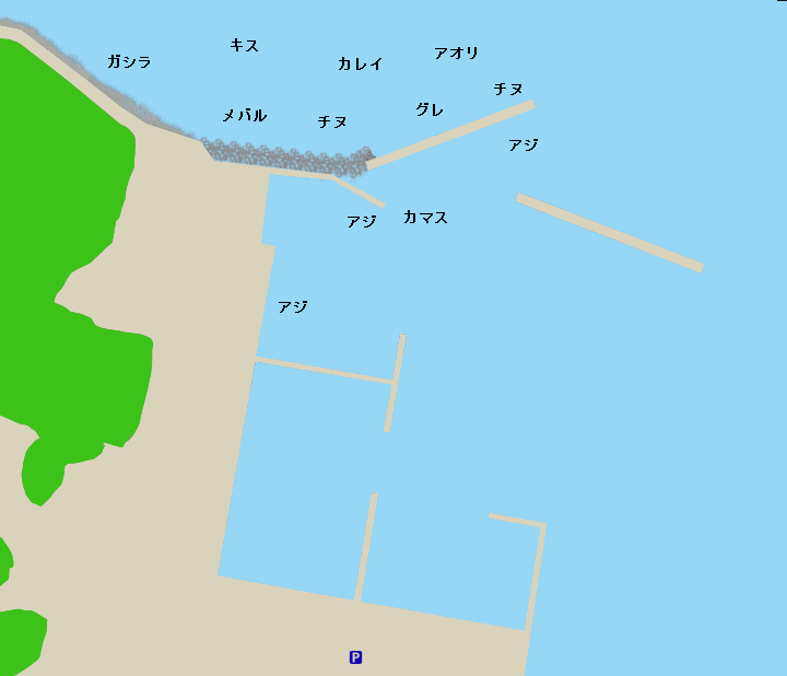 塩津漁港ポイント図