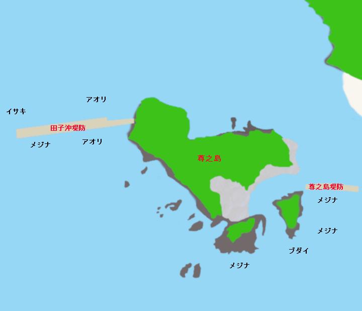 尊之島ポイント図