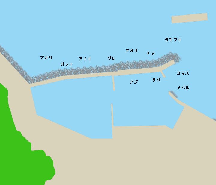 栖原漁港ポイント図