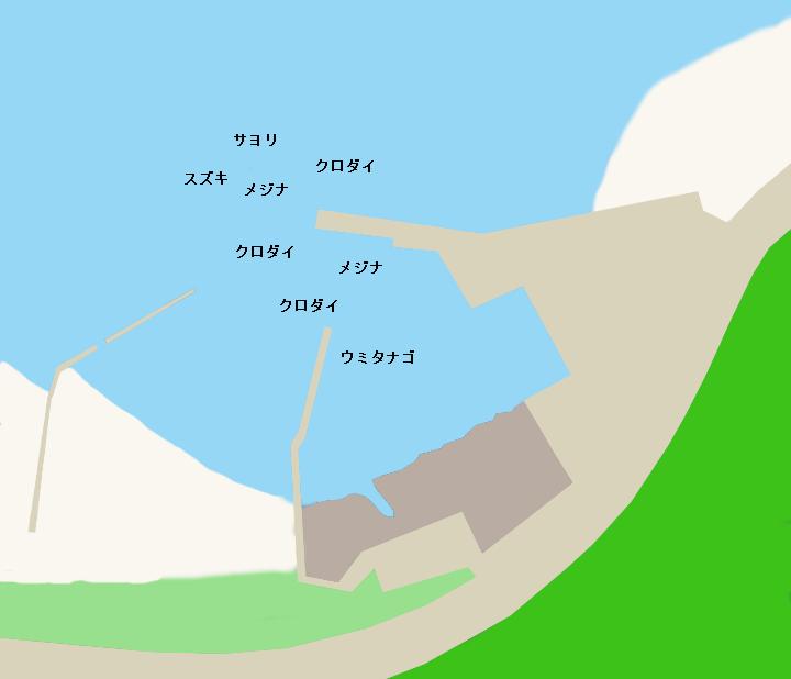 砂取港ポイント図