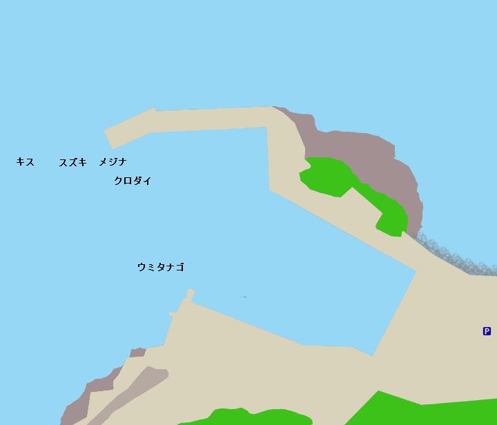 洲崎北港ポイント図