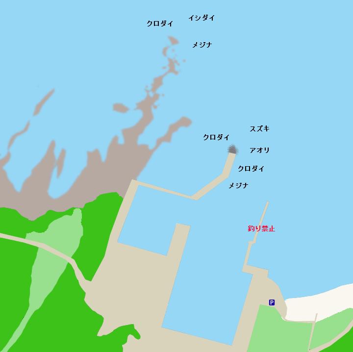 洲崎西港ポイント図