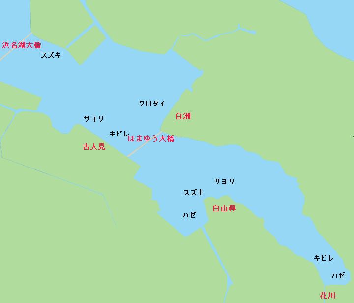 庄内湖ポイント図