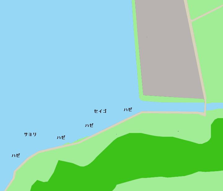 庄内湖奥部ポイント図
