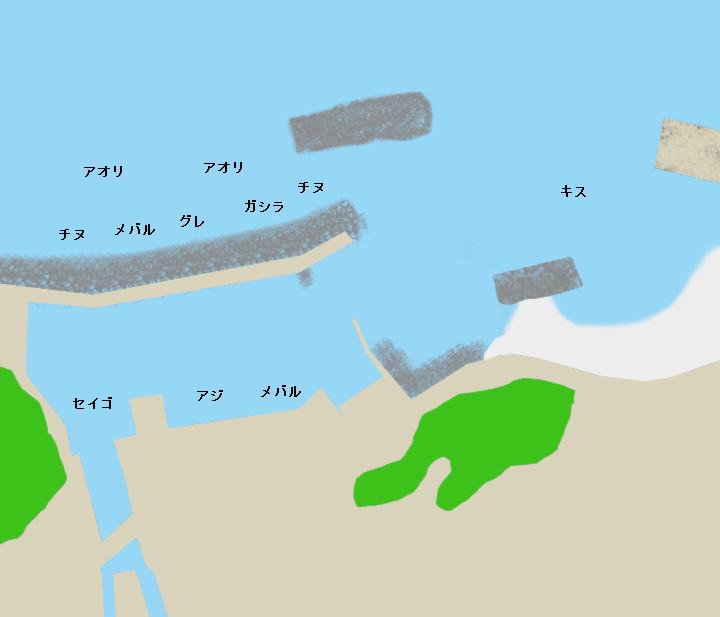 田村漁港ポイント図
