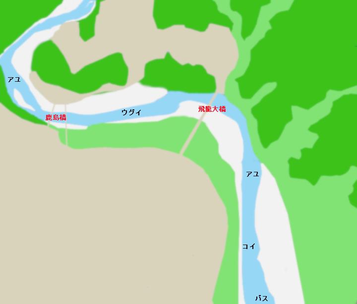 天竜川鹿島橋周辺