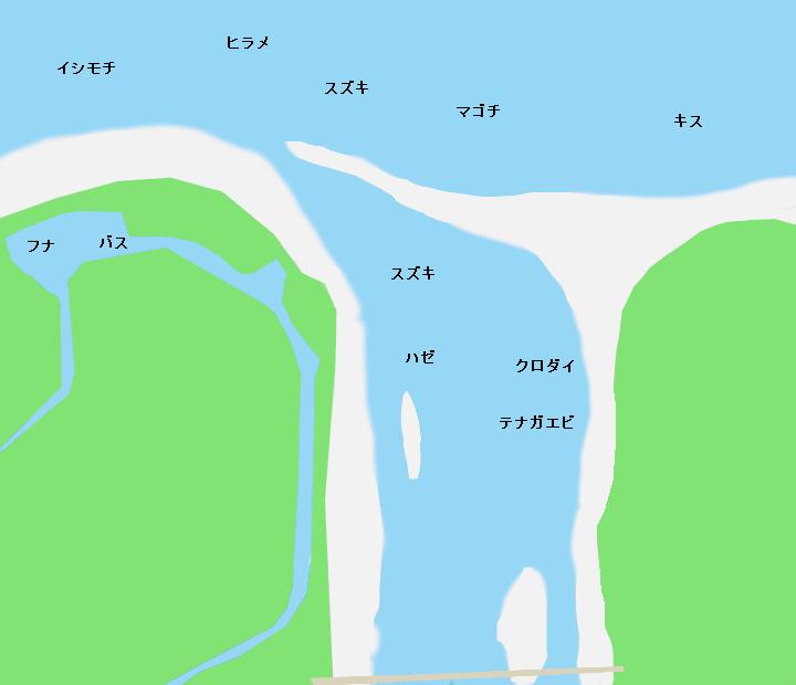 天竜川河口ポイント図