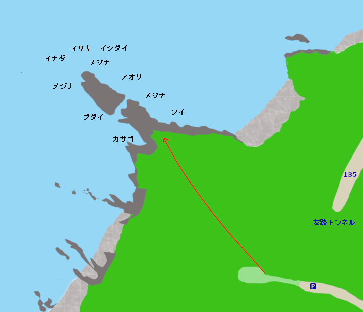 トモロ岬ポイント図