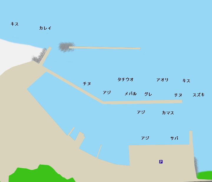 戸坂漁港ポイント図