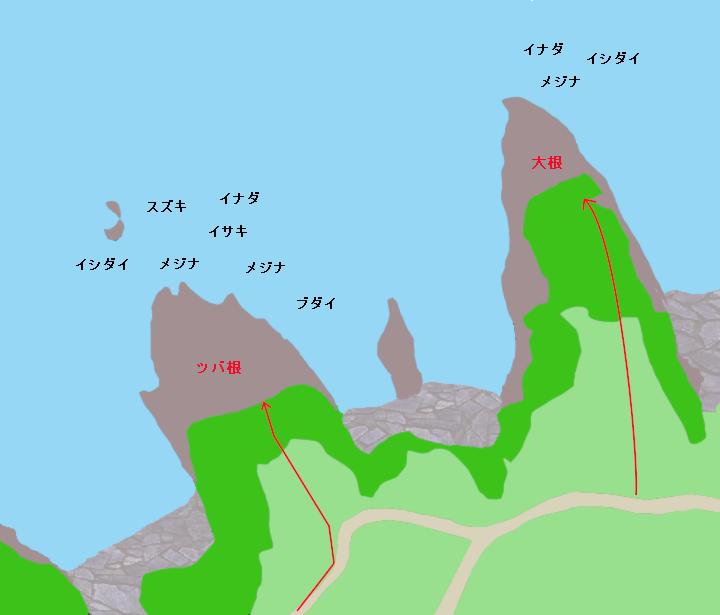 富戸ツバ根ポイント図