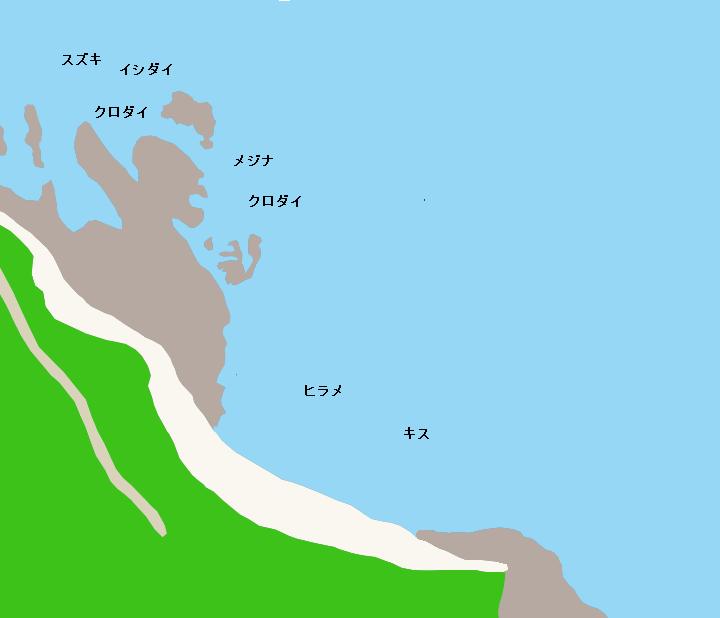 釣師海岸ポイント図