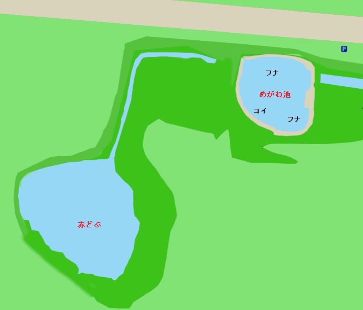 浮島沼釣り場公園ポイント図