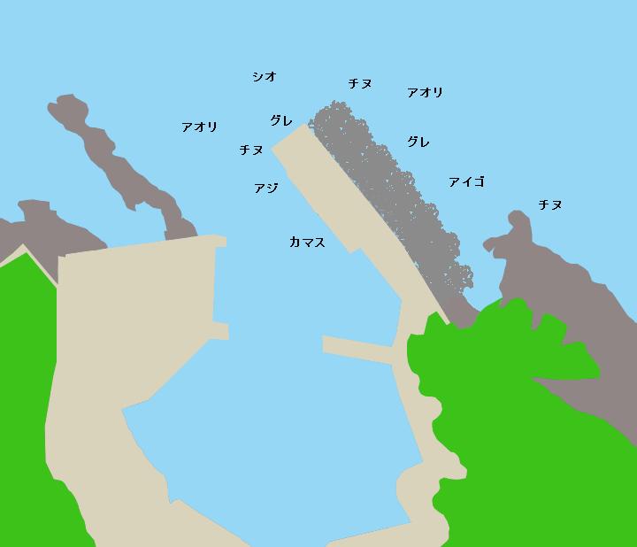 矢櫃漁港ポイント図