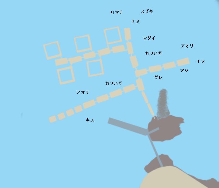 由良海つり公園ポイント図