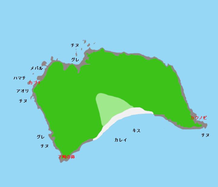 地ノ島ポイント図