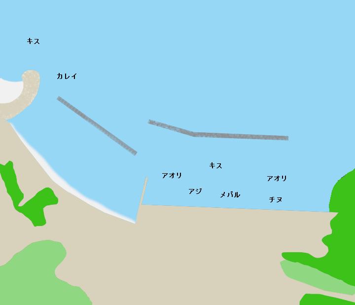 畔蛸漁港ポイント図