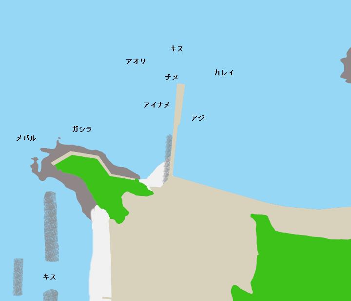 安楽島漁港ポイント図