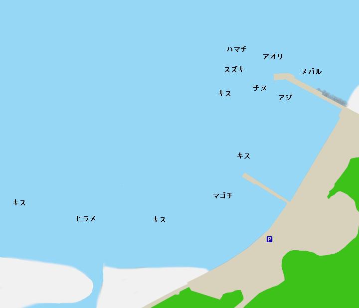 新鹿漁港ポイント図