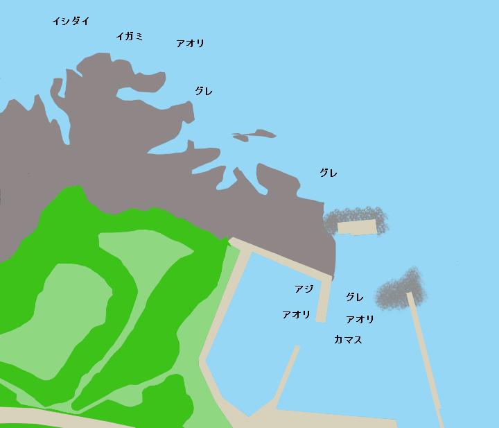 安指漁港ポイント図