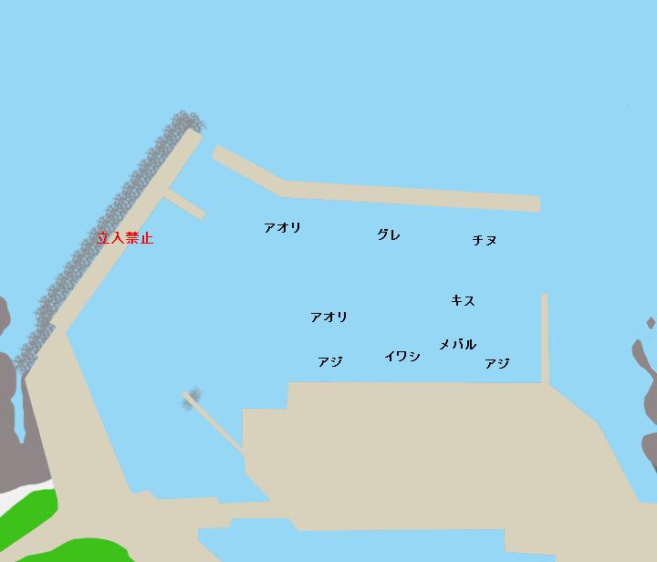 ドメキ漁港ポイント図