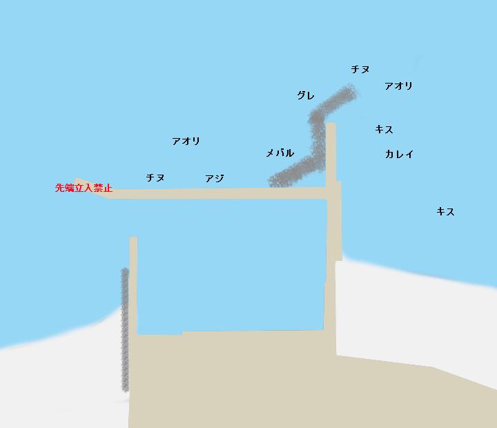 道瀬港ポイント図